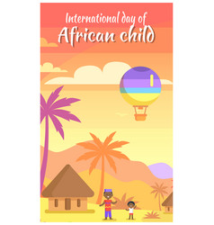 international day of african child poster in frame vector image