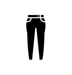 jeans icon black sign on vector image vector image