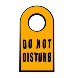 Label do not disturb icon cartoon vector