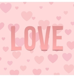 Love valentines day letters on hearts pattern vector