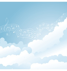 music clouds vector image vector image