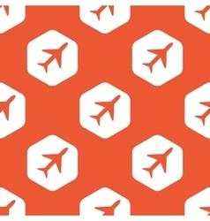 Orange hexagon plane pattern vector image vector image