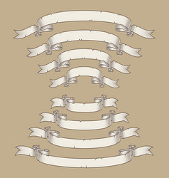 papyrus scroll curved center uwards n downwards vector image vector image
