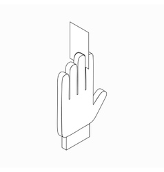 Referee showing card icon isometric 3d style vector