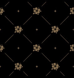 seamless pattern background baroque with flower vector image vector image