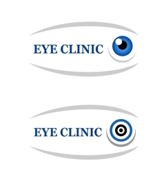 Sign of eye clinic vector
