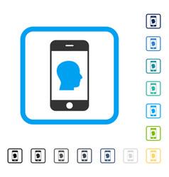 smartphone contact human portrait framed vector image