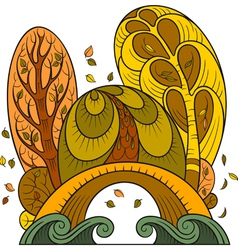 stylized autumn background vector image