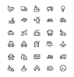 Transportation Icons 1 vector image vector image