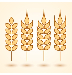 wheat icons set vector image vector image