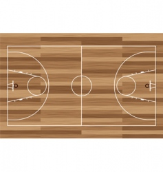 wood basketball court vector image vector image