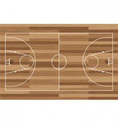 Wood basketball court vector