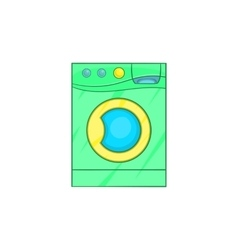 Washing machine icon in cartoon style vector