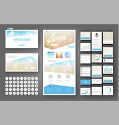tropical summer web design template vector image