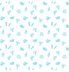 seamless pattern with construction tools and vector image
