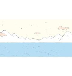 Lake Landscape Background vector image