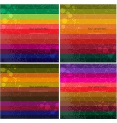 Set of four colourful line background vector