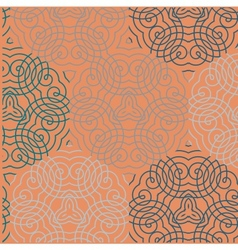 Seamless wallpaper pattern red vector