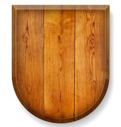 Realistic wooden board vector