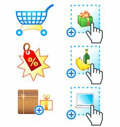 e-commerce icons complex series vector image