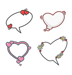 Valentines day elements set 01 vector image