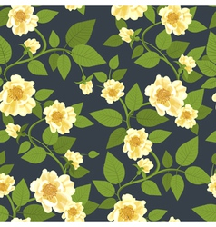 Wild roses retro pattern vector