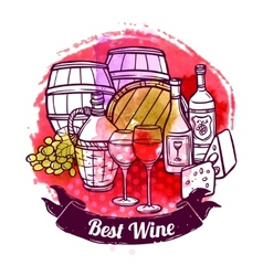 Wine sketch vector