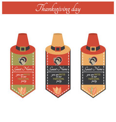 Vintage thanksgiving party invitation vector