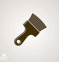 Stylized repair instrument simple paint brush vector