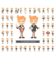 Set of businessman character  eps10 format vector