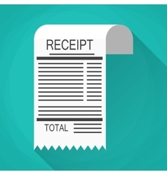 Receipt and invoice icon vector