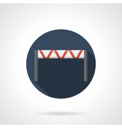 Traffic barrier round flat icon vector