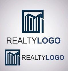 realty logo 2 3 vector image