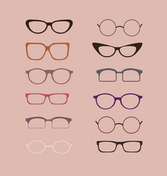 A set of glasses isolated glasses models vector