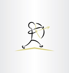 archer icon clipart vector image