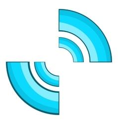 Blue click cursor icon cartoon style vector