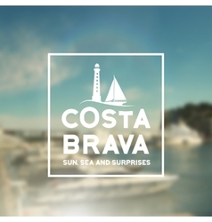 Costa brava souvenir print vector