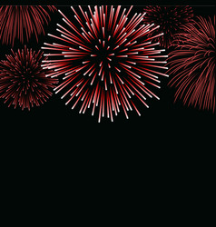 firework sparkle background card vector image