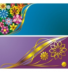 flower backgrounds vector image vector image