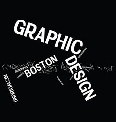 Graphic design boston text background word cloud vector