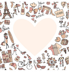 I love france sketch for your design vector