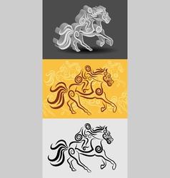 Jockey Symbol vector image vector image