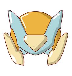 Motorcycle helmet design icon cartoon style vector