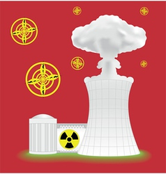 nuclear plant vector image