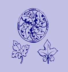 ornament sketch vector image