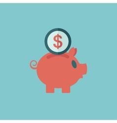 Piggy bank flat icon vector