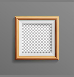 realistic photo frame with soft shadow vector image