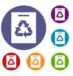 recycling icons set vector image