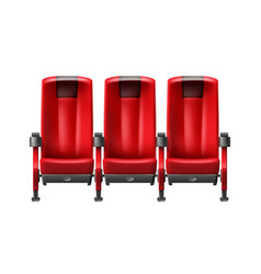 row of cinema seats vector image vector image