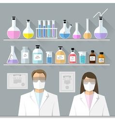 set - chemical designer Flat design vector image vector image